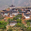 Rinchengang Village. On hill opposite the Wangdue Phodrong Dzong. Was the village where the Indian laborers that constructed the Wangdue Phodrong in the mid 1600s. Wangdue, Bhutan