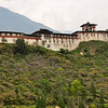 Wangdue Phodrang Dzong (a dzong is a fort) near the town of Wangdue, on the road to Central Bhutan. This fortress palace was built in 1638 by a great warrior and political leader, Shabdrung, Ngawang Namgyal. Shbdrung is credited with unifying the country, which was a set of warring fiefdoms at the time. Wangdu, Bhutan