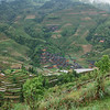 Viewpoint of terraced fields and Dazhai Village. China