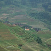 Terraced fields viewpoint while on hike. Guangxi Province, China