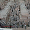 The Terracotta Army of Emporer Qin, buried for 2000 years before discovery. Xi'an, Shaanxi Province, China