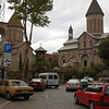 Small intimate square near central Tbilisi. There are countless churches and chapels. along with some magnificent cathedrals in Tbilisi.