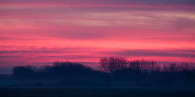 Red Sky Over the Merced NWR