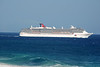 Cruise ship outbound from Cabo