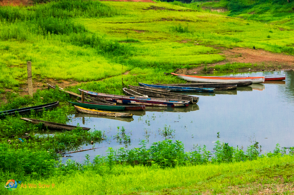 boats on Lake Alajuela, Panama