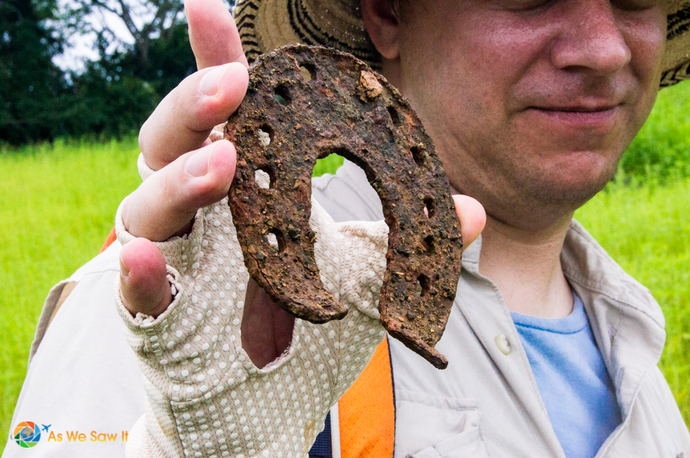 Horseshoe dating from the days when conquistadors traveled el Camino Real de Panama.