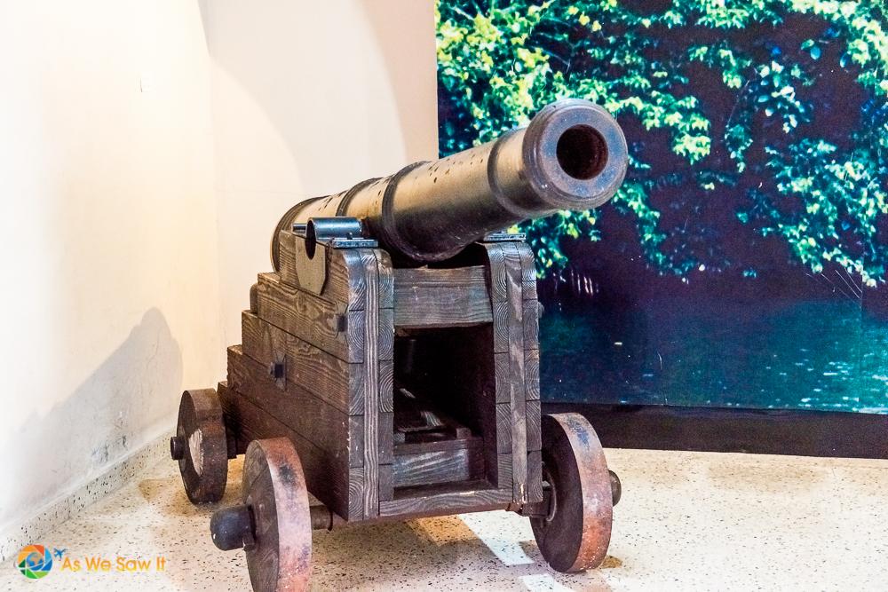 Original cannon from Panama Viejo