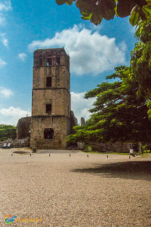 Remains of the courtyard in front of the Cathedral, Panama Viejo