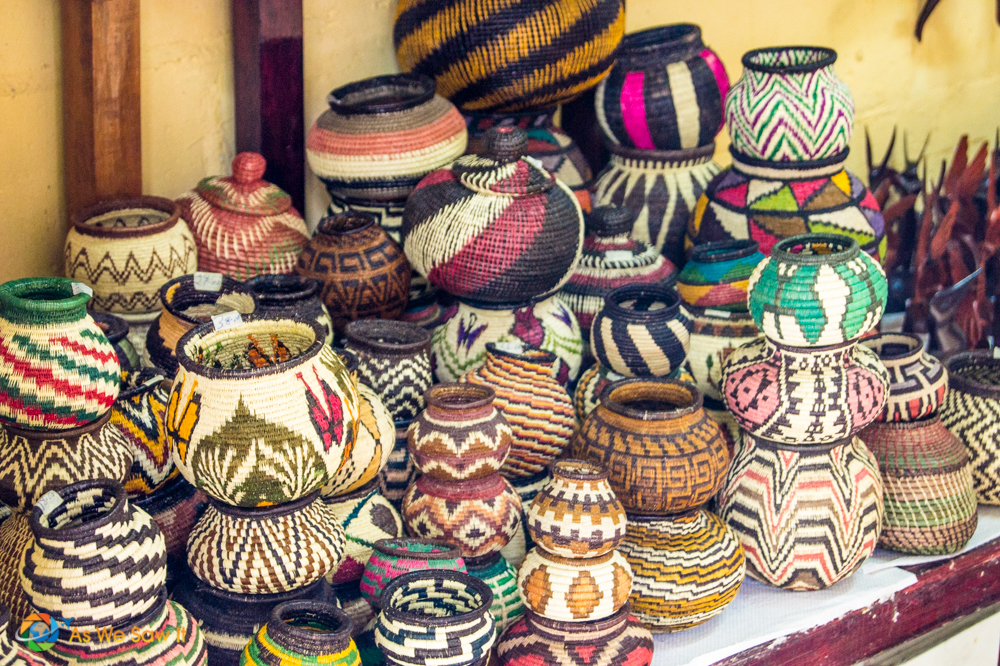 Embera woven baskets that can hold water