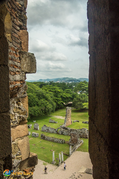 view from bell tower, Panama Viejo