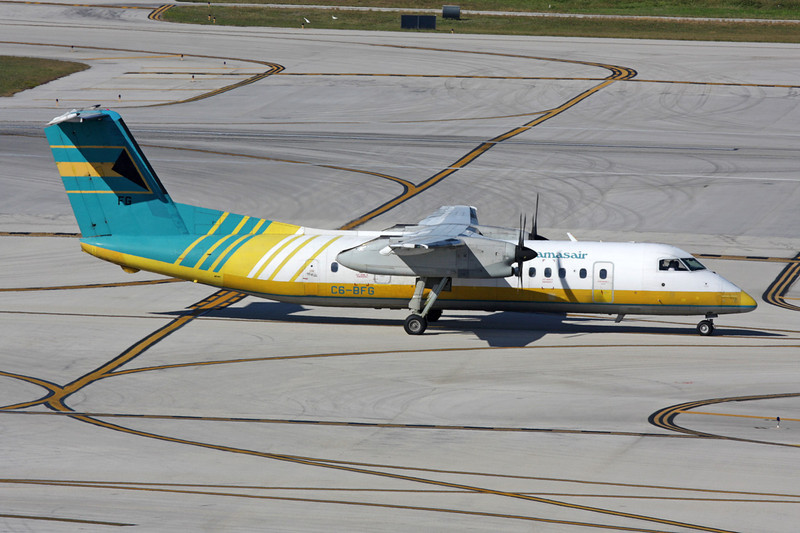 "C6-BFG de Havilland Canada DHC-8-311A ""Bahamasair"" c/n 288 Fort Lauderdale - International/KFLL/FLL"