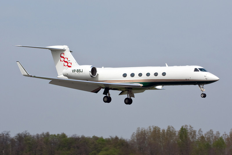 VP-BSJ Gulfstream G5 c/n 555 Basle-Mulhouse/LFSB/BSL 23-04-10