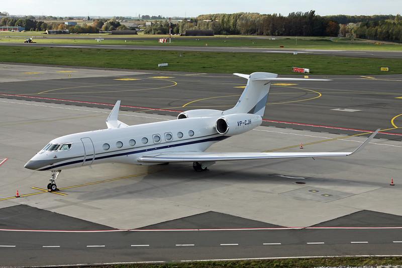 VP-CJH Gulfstream G650ER c/n 6293 Liege/EBLG/LGG 21-10-20