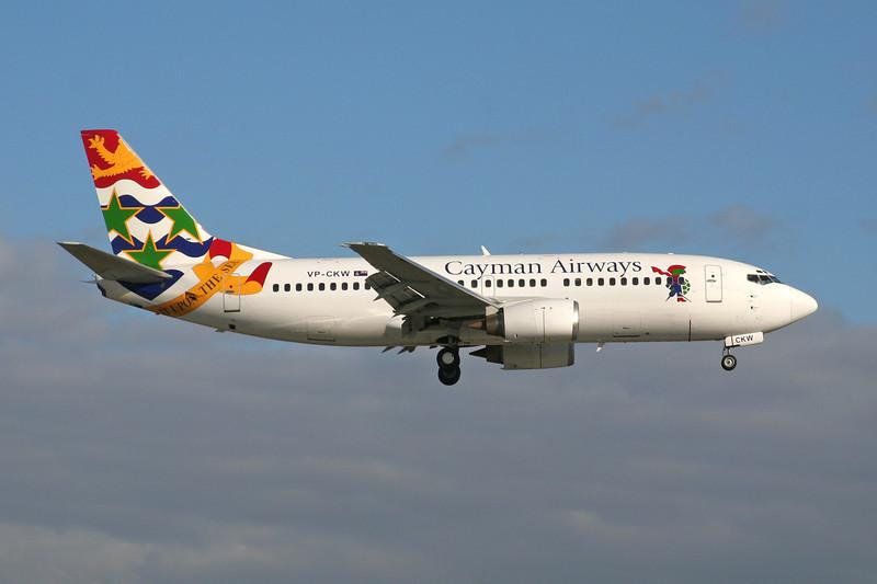"""VP-CKW Boeing 737-36E """"Cayman Airways"""" c/n 26322 Miami/KMIA/MIA 04-12-08"""