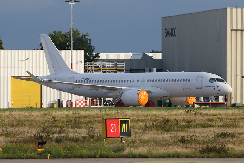 "VP-BMV Bombardier C-Series 300 ""Leasing Company"" c/n 55066 Maastricht-Aachen/EHBK/MST 27-09-20"