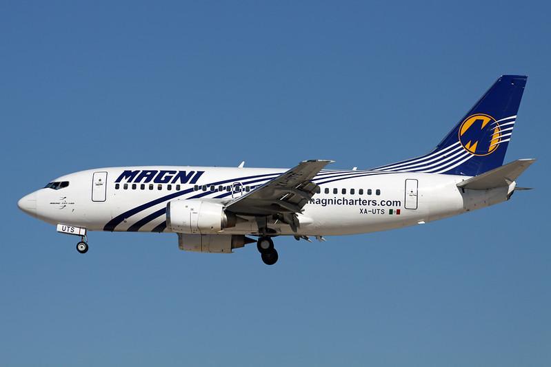 """XA-UTS Boeing 737-55D """"Magnicharters"""" c/n 27130 Las Vegas-McCarran/KLAS/LAS 13-11-16"""
