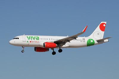 "XA-VAQ Airbus A320-232 ""VivaAerobus"" c/n 6886 Las Vegas-McCarran/KLAS/LAS 24-01-18"