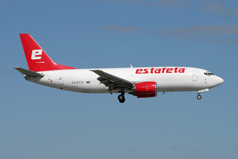 "XA-ECA Boeing 737-3M8F ""Estafeta Cargo Aerea"" c/n 24024 Miami/KMIA/MIA 04-12-08"