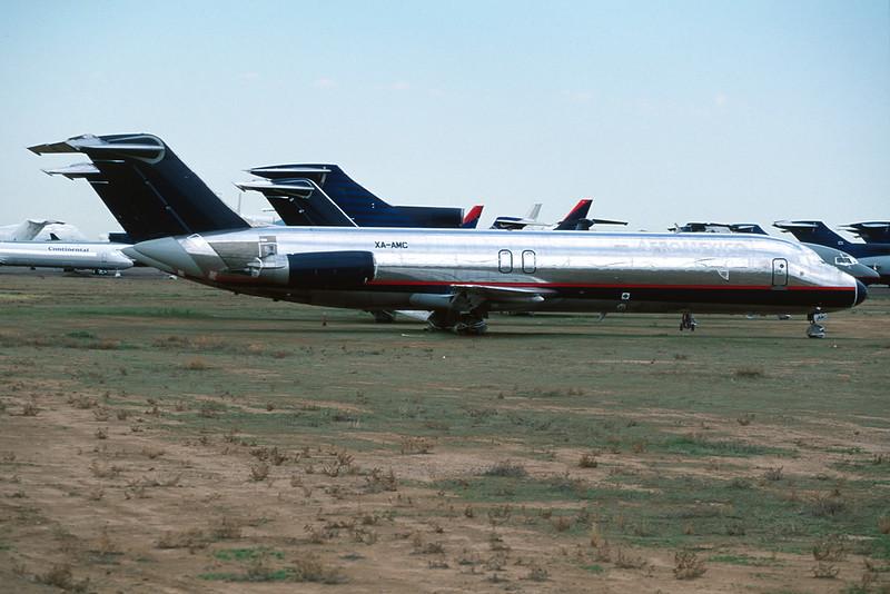 """XA-AMC Douglas DC-9-32 """"Leasing Company"""" c/n 48127 Goodyear/KGYR/GYR 13-03-04 (35mm slide)"""