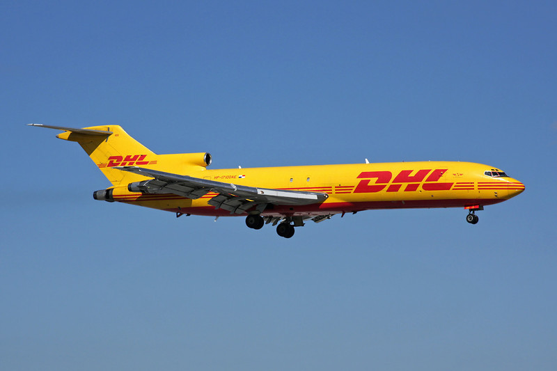 "HP-1710DAE Boeing 727-2Q4F ""DHL Worldwide Courrier Express"" c/n 22424 Miami/KMIA/MIA 04-12-08"