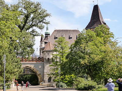 Budapest City Park - Gothic gateway to Vajdahunyad Castle