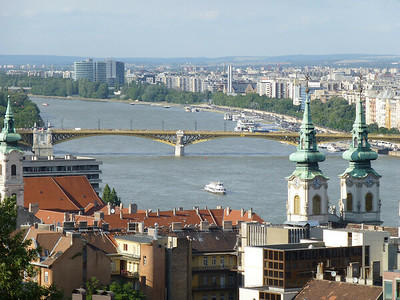 View  of  Margit híd or Margaret Bridge