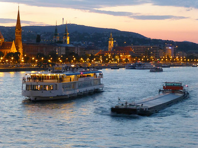 Danube at twilight.
