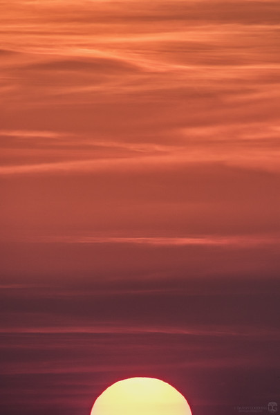 Abstract view of sunset from Cape Canaveral