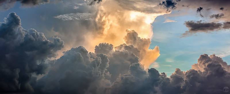 Storm at sunset in Orlando, Florida