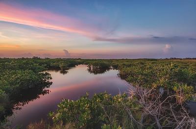 Sunset at Merritt Island National Wildlife Refuge