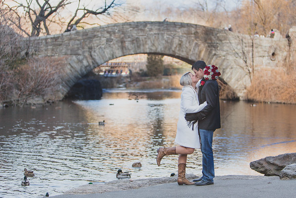 Winter Elopement Central Park - The Pond