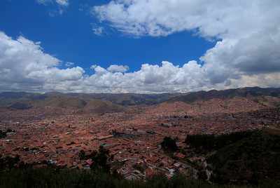 View of Cusco from Sacsayhuaman