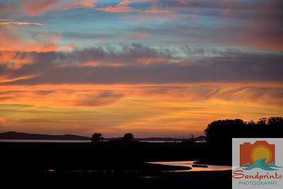 Estuary Sunset_sandprints 010