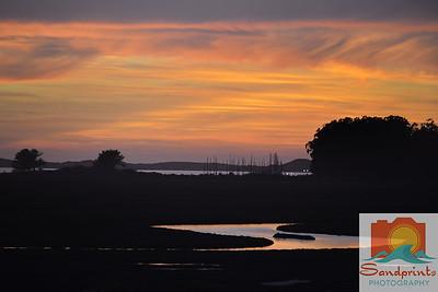 Estuary Sunset_sandprints 011 w