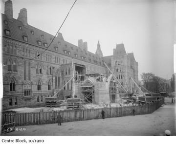 Centre Block - L'édifice du Centre, 10/1920