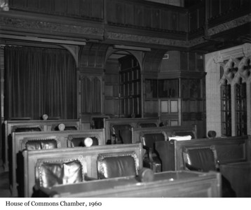 House of Commons Chamber - Chambre des communes, 1960