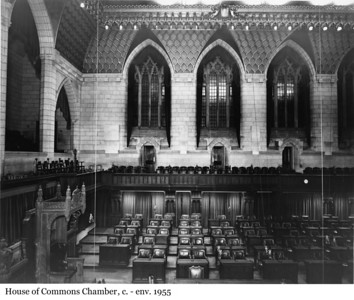 House of Commons Chamber - Chambre des communes, c. - env. 1955