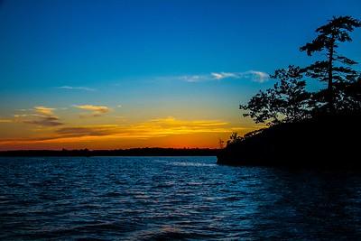 Sunset Moira Lake by Len Holmes