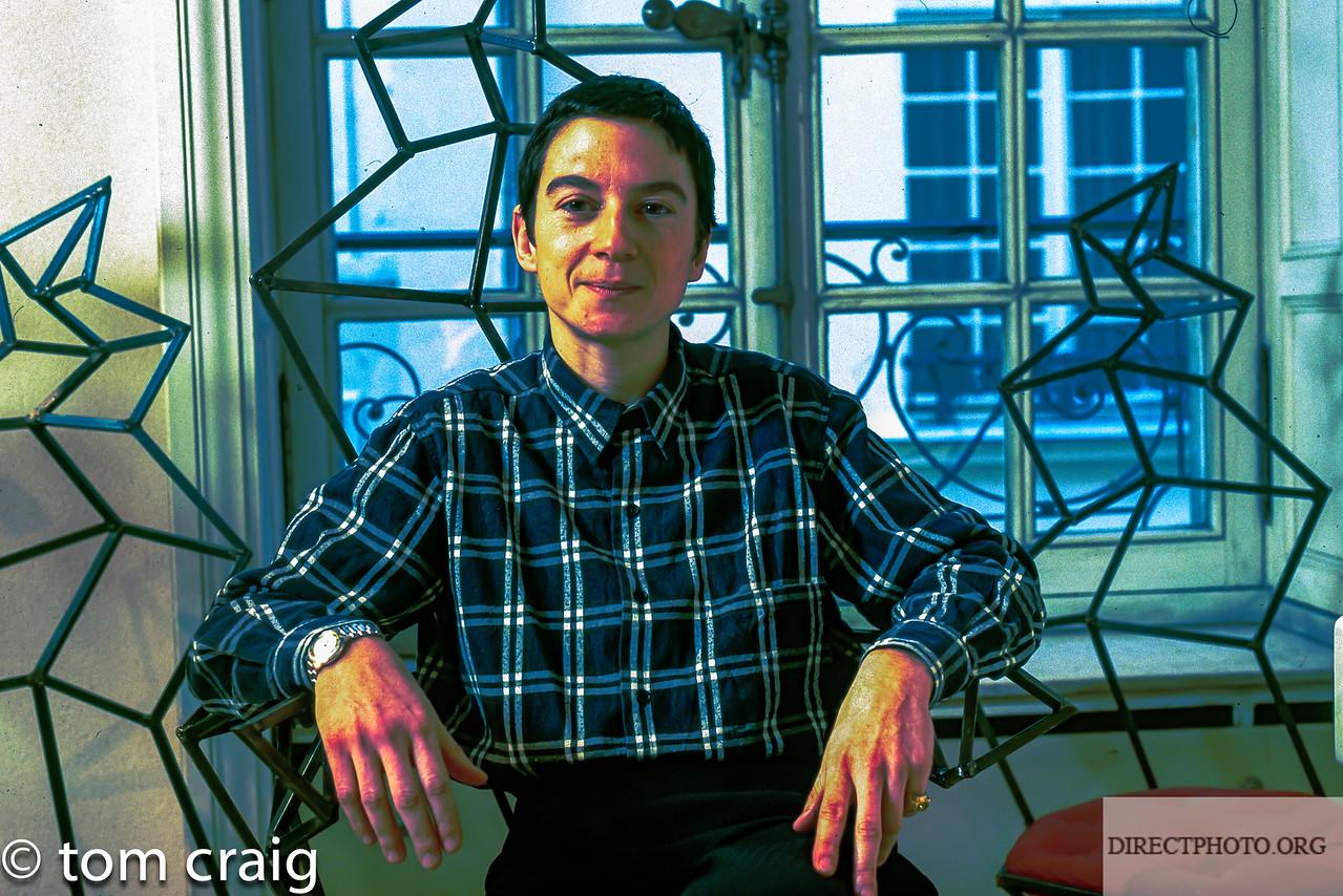 Portrait Avocat, Auteur, Lesbian, Defendeur des droits LGBT, Caroline Mecary,1998