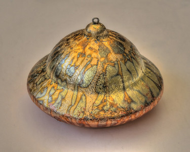 UFO Christmas ornament-slipcast porcelain