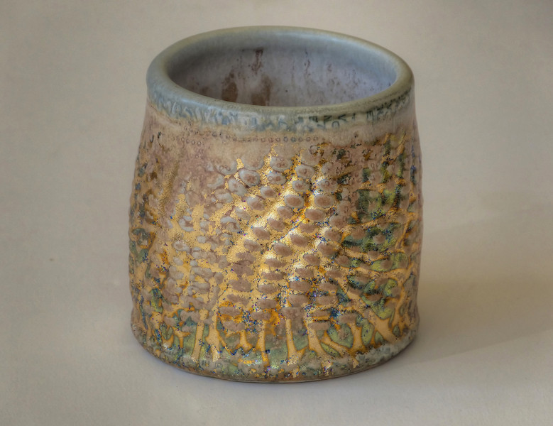 corn texture cup- 3 & one half inches high