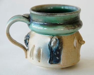 "mug - wood fired, cone 10, size: 4""  x 5"" x 4"""