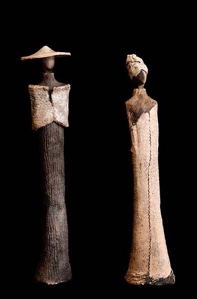 statue africaine en raku