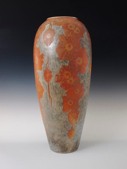 """Deco Flower Vase 18.5"""" x 8"""" x 8"""" Cone 10 Wood Fired Porcelain"""
