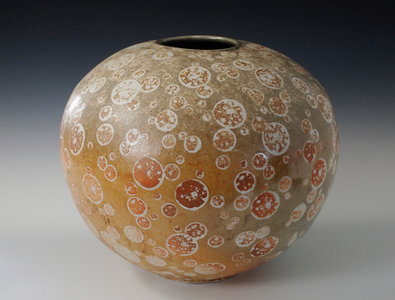 "Star burst Vase 10.5"" x 12.5"" x 12.5"" Cone 10 Wood Fired Porcelain"