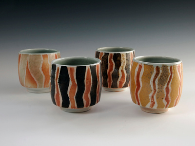 "Tea Bowls 3"" x 3"" x 3"" Cone 10 Wood Fired Porcelain"