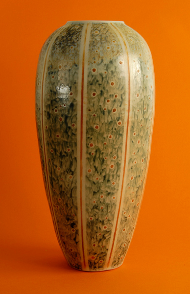 "Champagne Vase 13""x5""x5"" - Wood Fired Porcelain Cone 10 (Sold)"