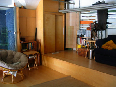 Loft lounge / photography area.  Currently set up as a lounge.