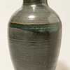 Striped green vase (21JA01)