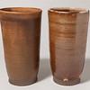 Two brown tumblers (21AP05, 21AP04)